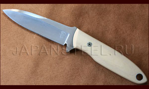 Нож туристический Tom Krein TK-8 Defender D2 Antique Ivory Micarta