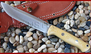 Нож туристический Bark River Bravo 1.5 3V Antique Ivory Micarta