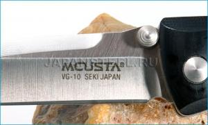 Нож складной Mcusta MC12 Basic Series Folders  VG10, Black Micarta