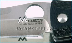 Нож складной Mcusta MC-121 Tactility Elite  F.S. Black Micarta