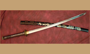 Японский меч Ryumon Hand Painted Dragon Katana